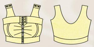компрессионное белье после коррекции сосков и ареолы