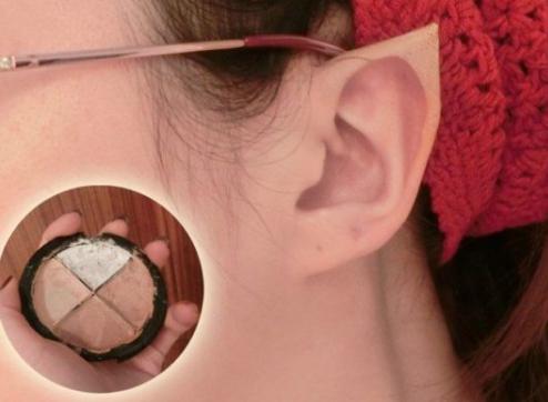 как сделать эльфийские уши из лейкопластыря