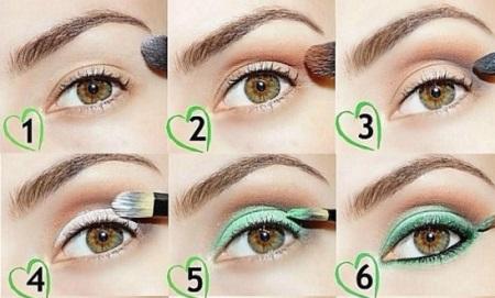 Изменить цвет с макияжем