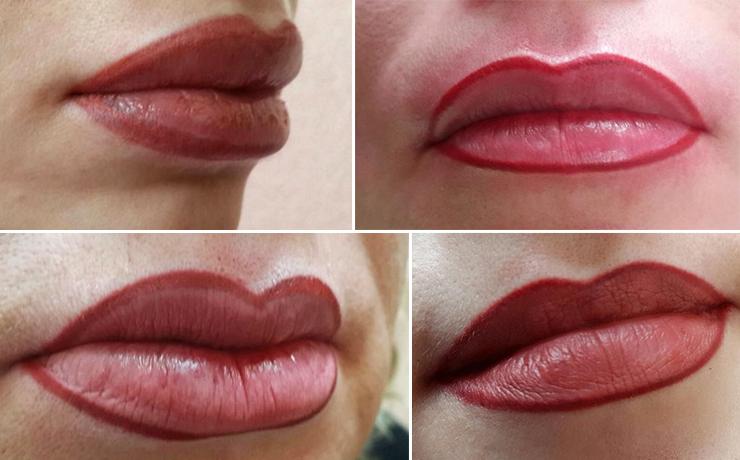 перманентный макияж губ ошибки
