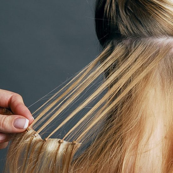 снятие наращенных волос