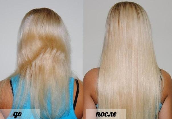 результата после наращивания волос