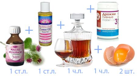 рецепты масок с репейным маслом