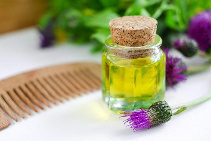 репейное масло в уходе за волосами