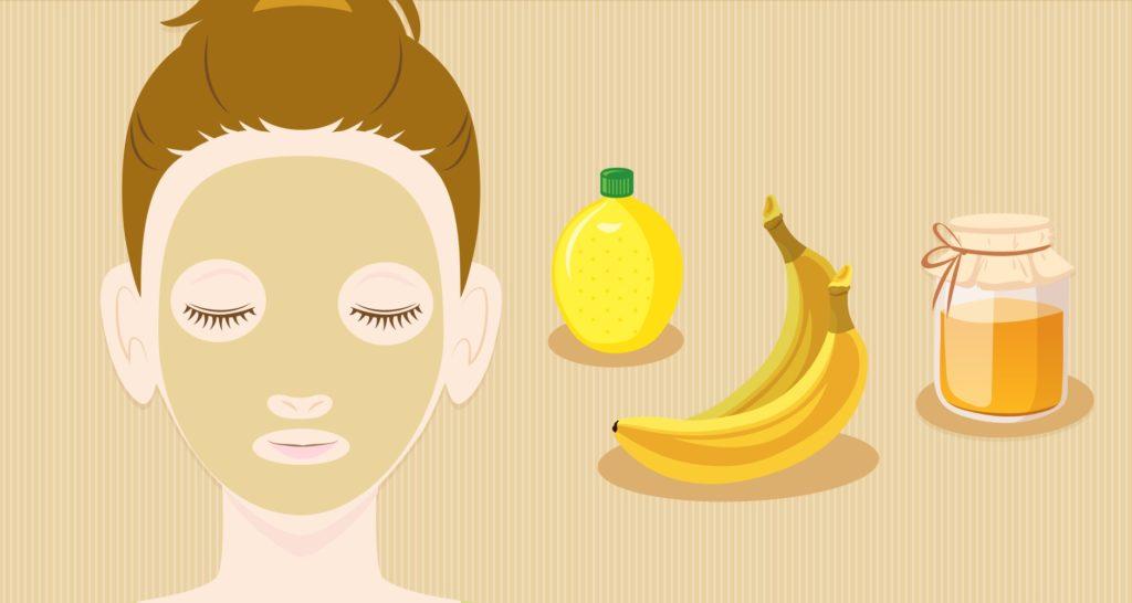 банановая маска с медом