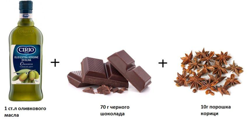 оливковое масло шоколад и корица