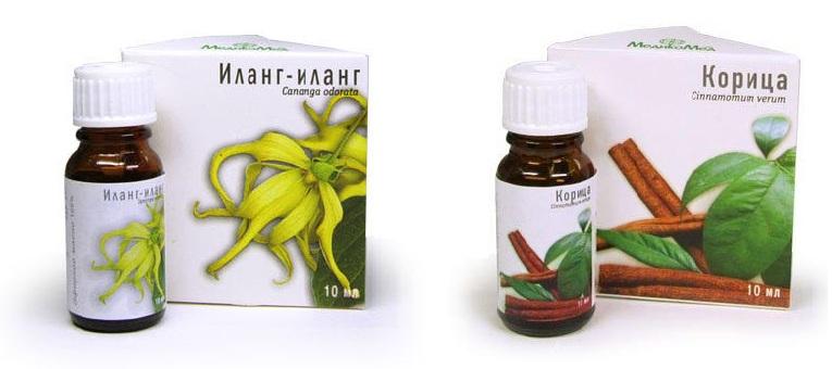 масло илан-иланг и корицы