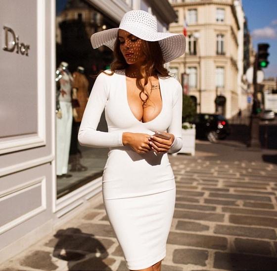 одинцова в белом платье