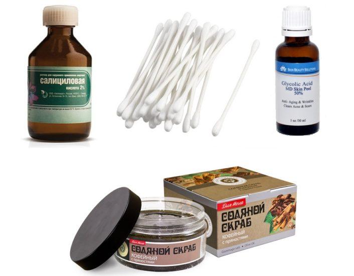 салициловая кислота и соляной скраб
