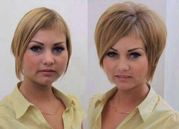 прикорневая завивка до и после