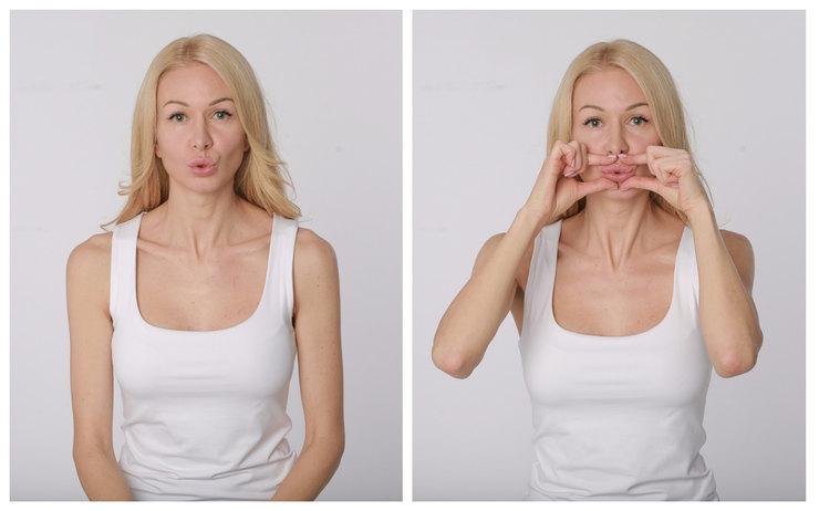 Как делать массаж губ
