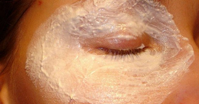 маска из белка для век
