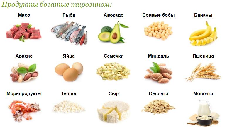 тирозин в продуктах питания